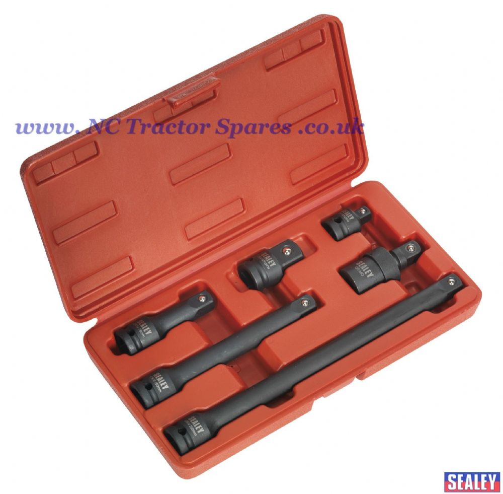 "Impact Adaptor & Extension Bar Set 6pc 1/2""Sq Drive"